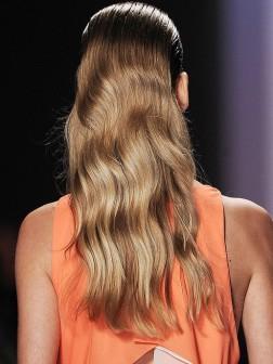 long slicked hair