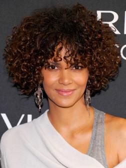 celebrity short curly hair
