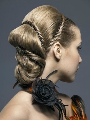 bridal twisted hairstyle