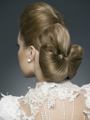 elegant wedding up-do