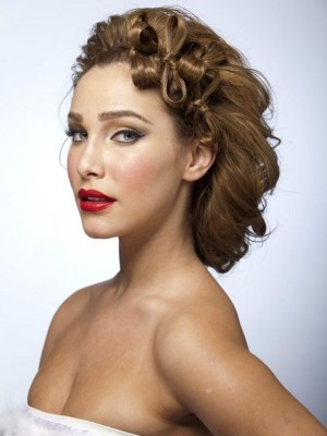 sophisticated up-do for wedding