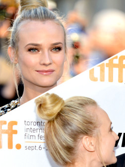 celebrity top knot hairstyle