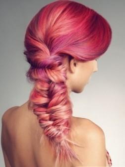 smashing pink hair