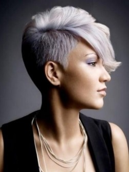 short gray hairstyle