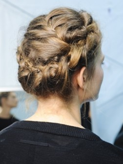 braided up-do hairstyle 2021