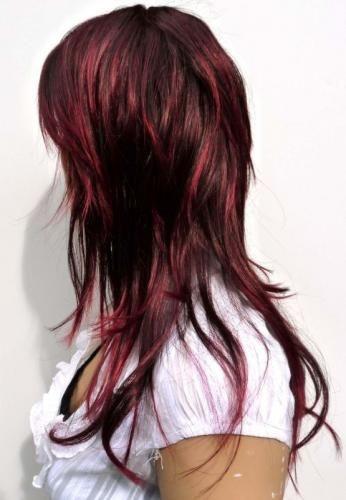 burgundy highlights for black hair 2016