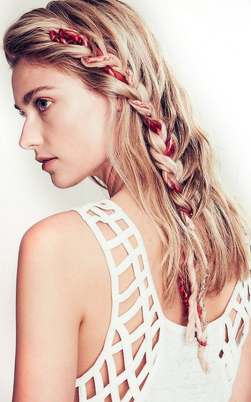 cool french braid hairstyle 2016