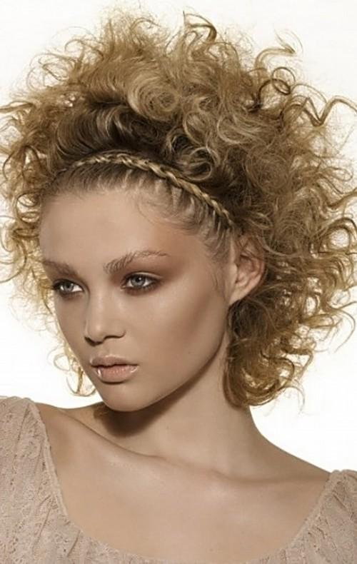 curly headband hairstyle 2016