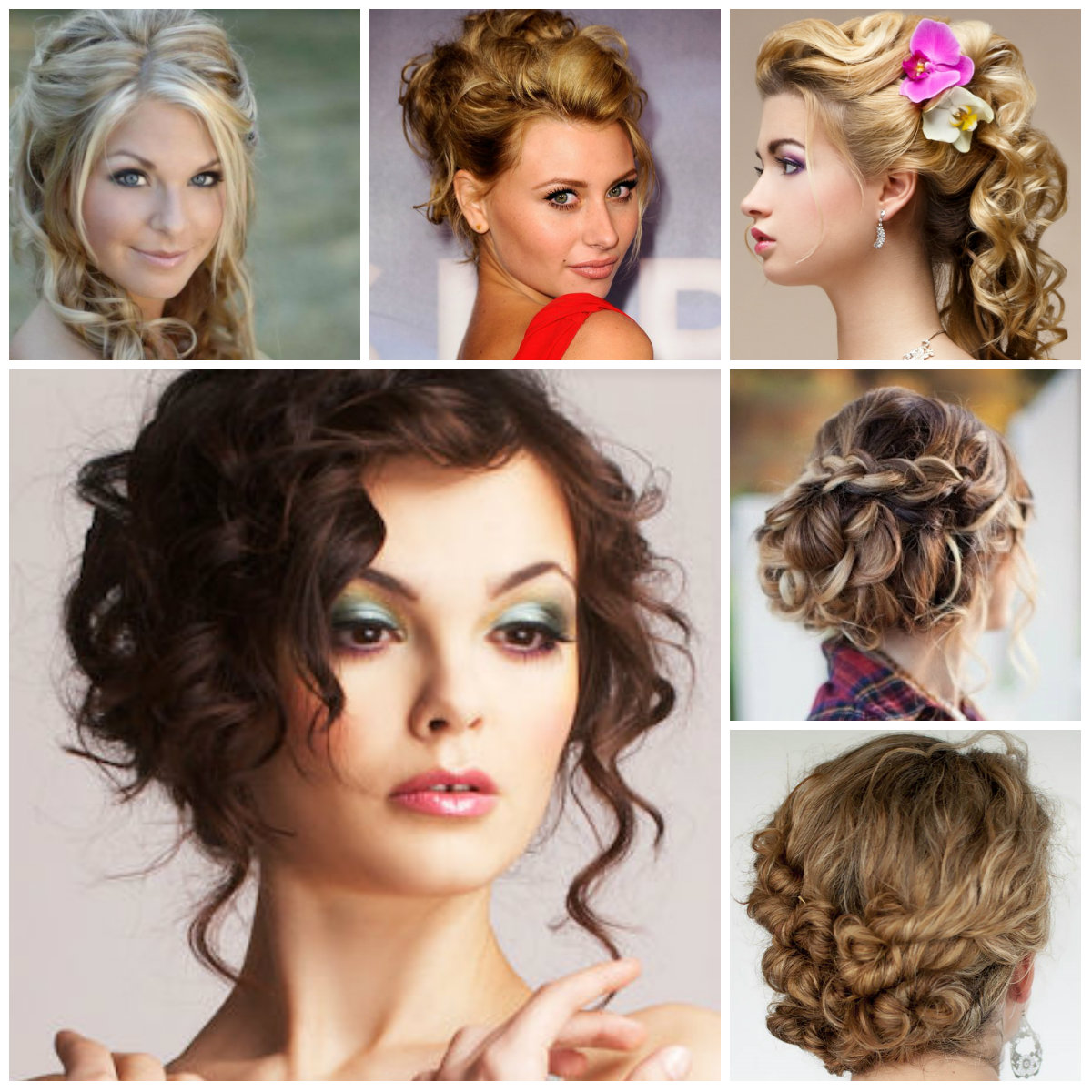 pretty curly updo hairstyles for 2016 | 2017 haircuts, hairstyles