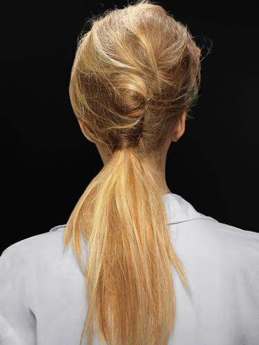 french twist runway ponytail 2022