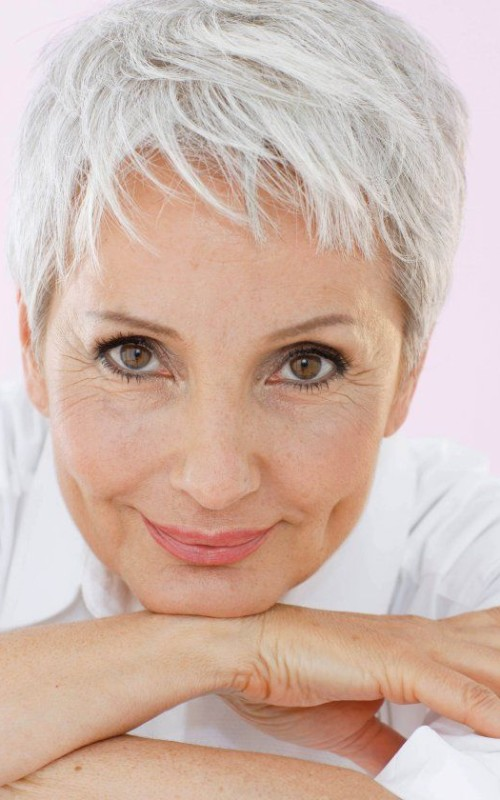 grey pixie for mature women 2022