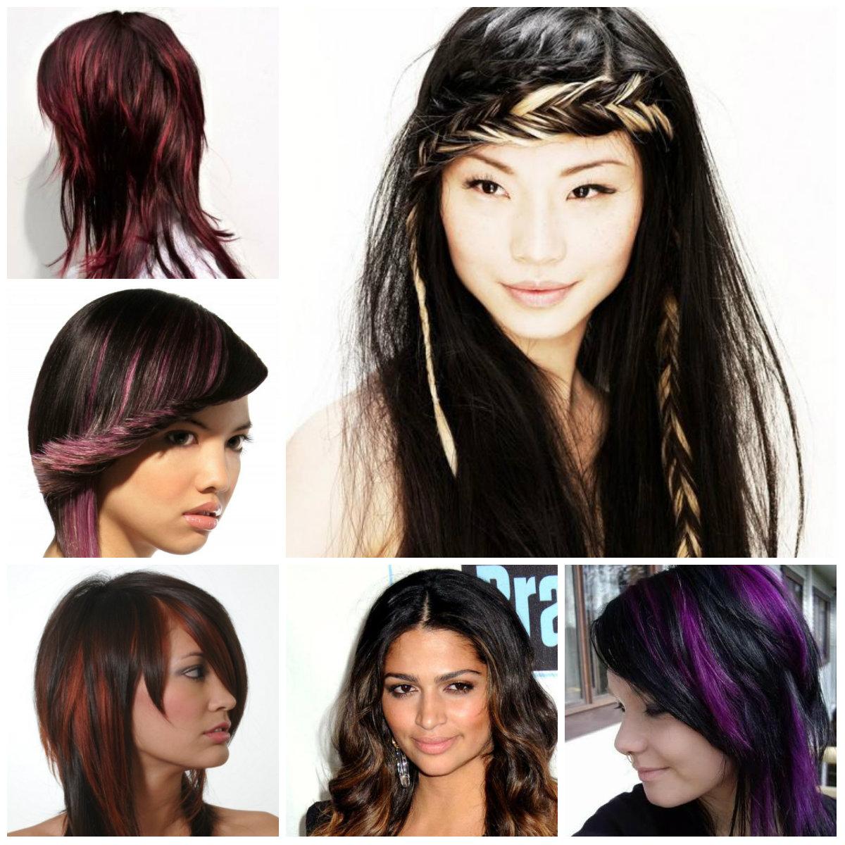 highlights for black hair 2016