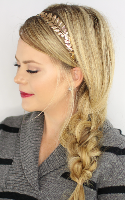 knotted crown braid hairstyle 2022