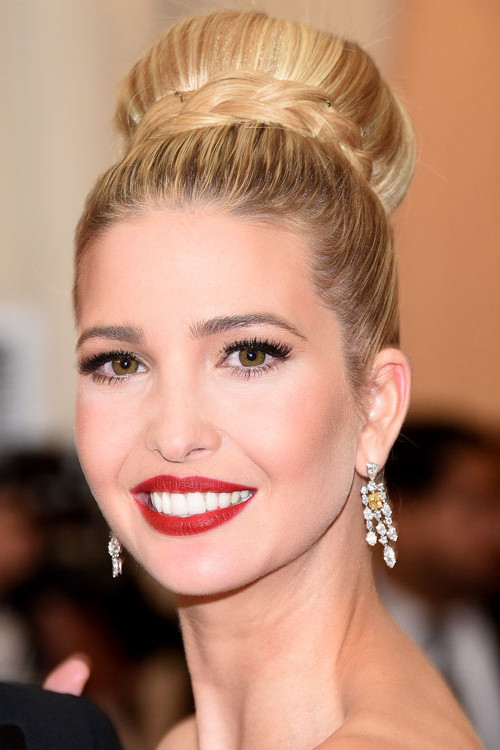 prom top knot hairstyle 2016