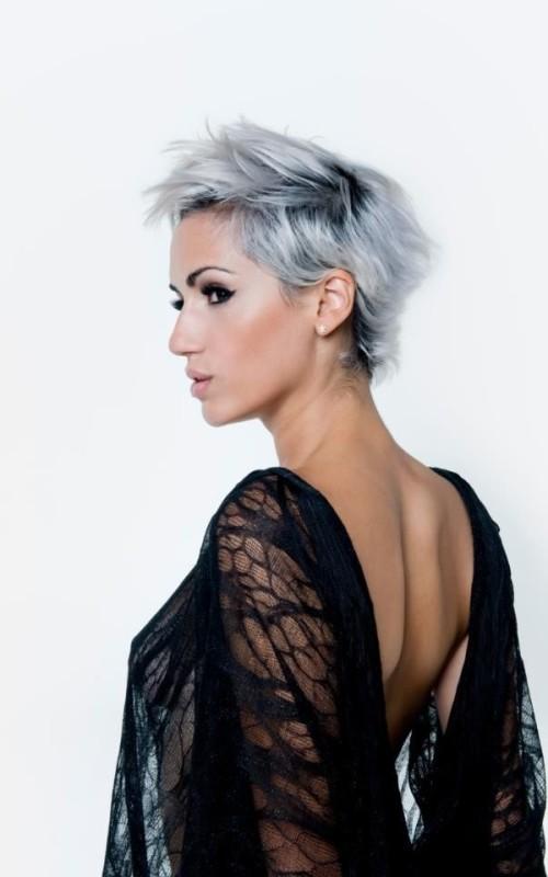 short blue silver hair 2022
