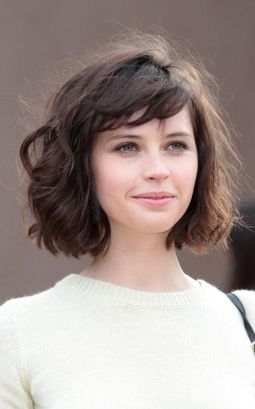 short wavy bob hairstyle 2016
