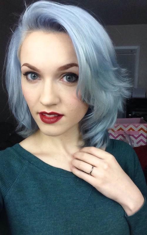 silver blue hair color 2022