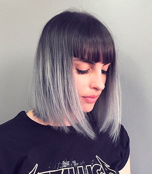 silver ombre hair color idea 2022