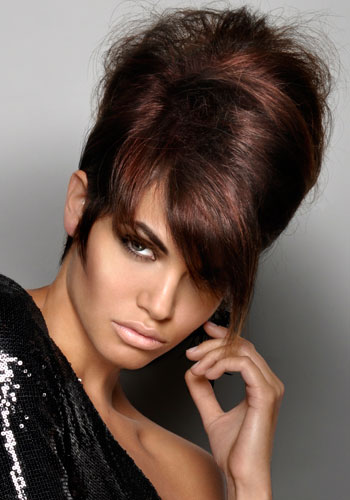 teased beehive updo hairstyle 2016