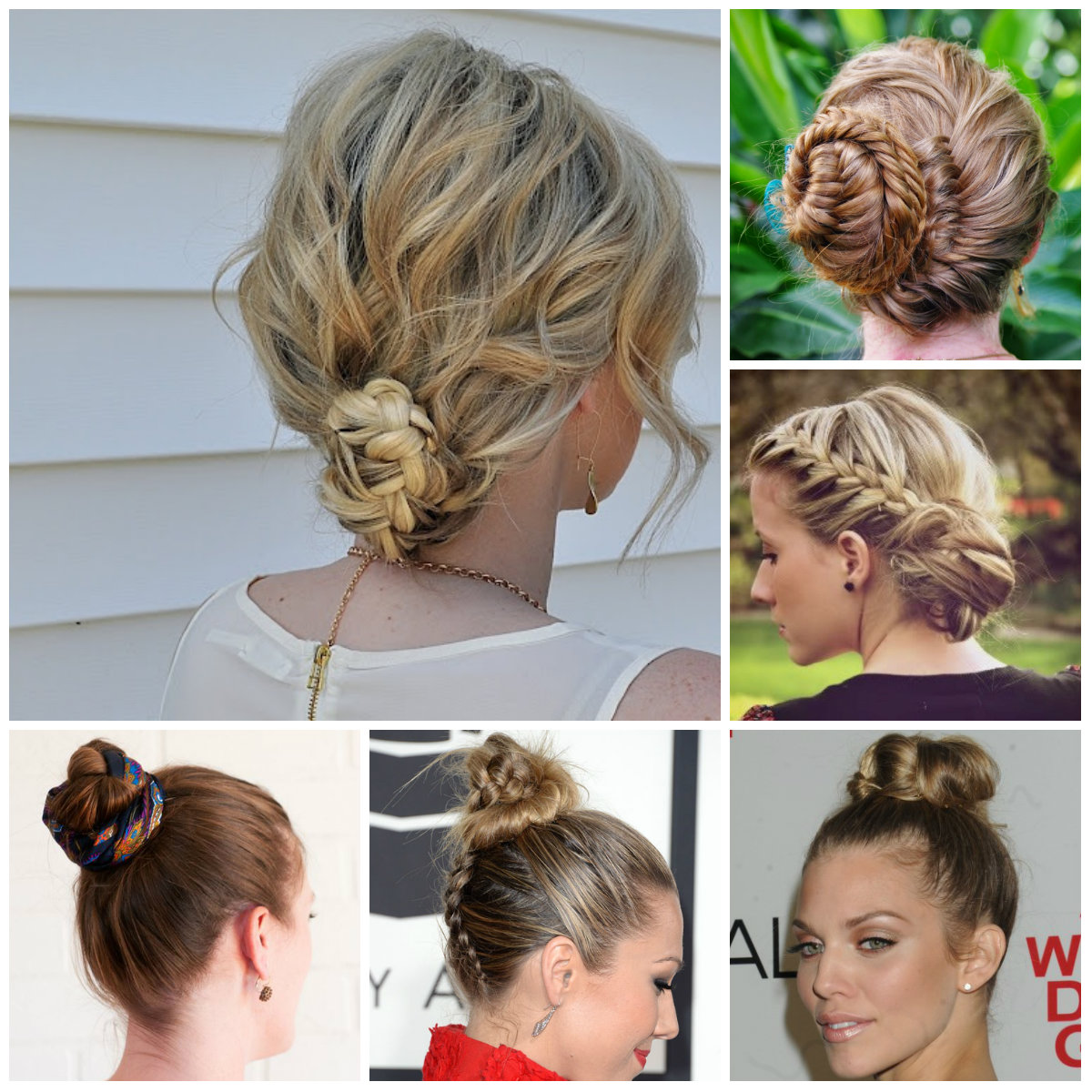 cute braided bun hairstyles 2016 | 2017 haircuts, hairstyles and