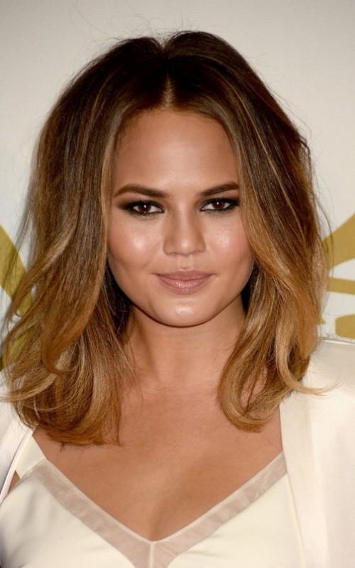 chrissy teigen ombre hair color 2022
