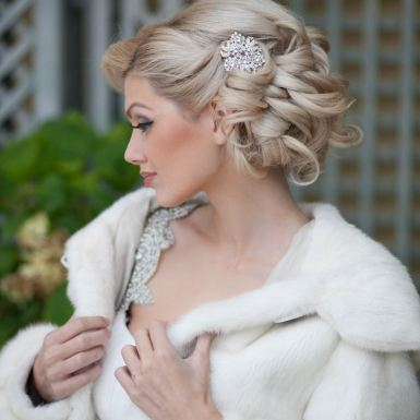 curly updo hairstyle wedding 2022