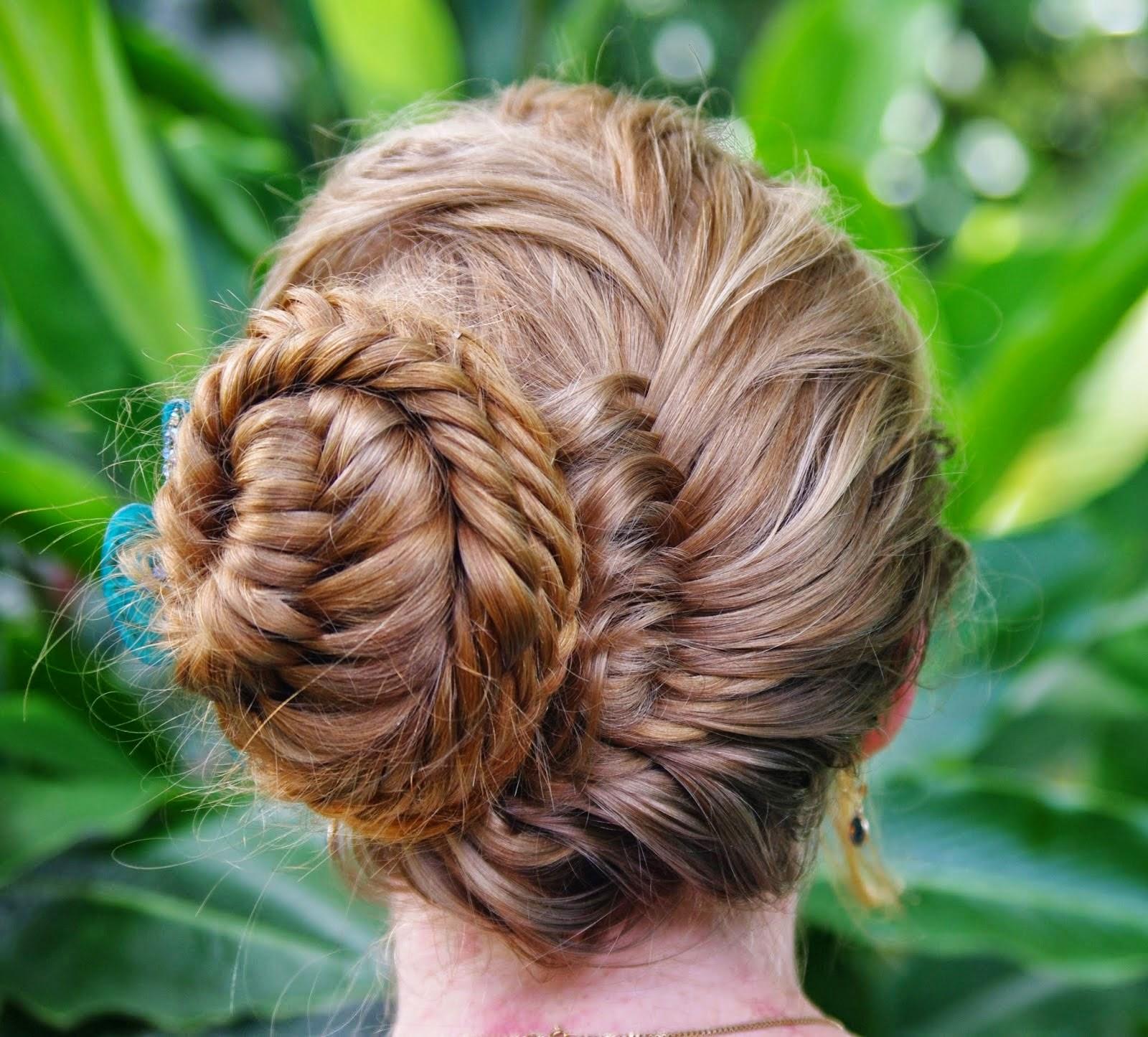 fishtail braid bun hairstyle 2022