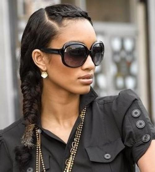 long black plait hairstyle 2016