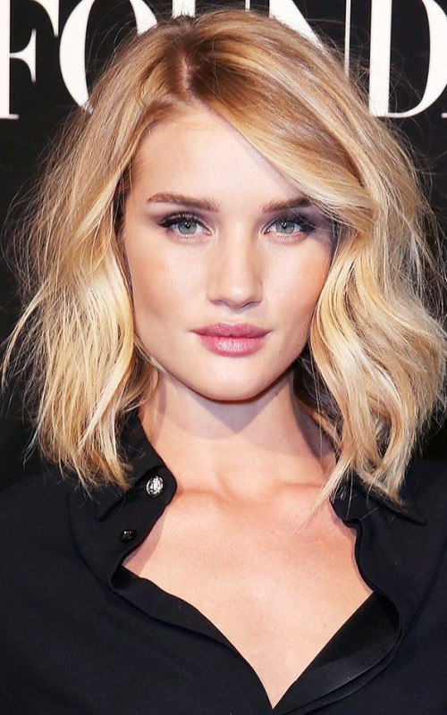 medium tousled waves hairstyle 2016