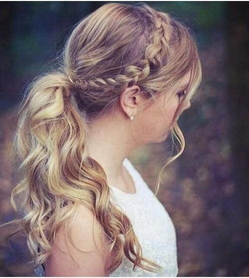 ponytail with braid 2022