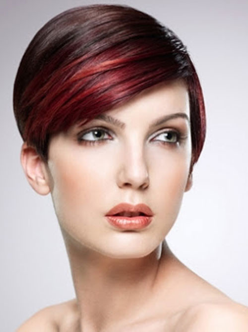 red highlights for bangs 2016