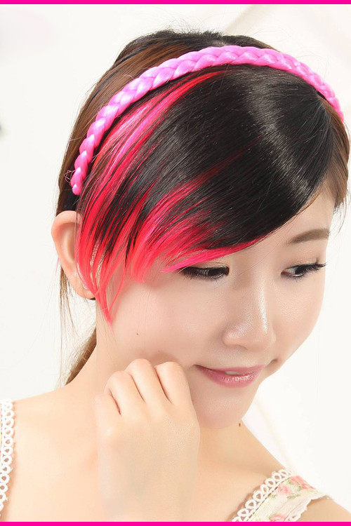 red highlights on bangs 2016