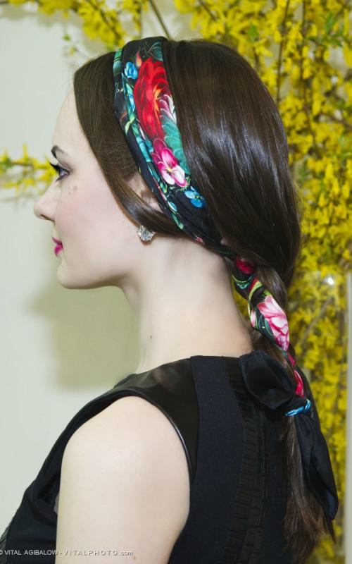 scarf braid hairstyle 2022