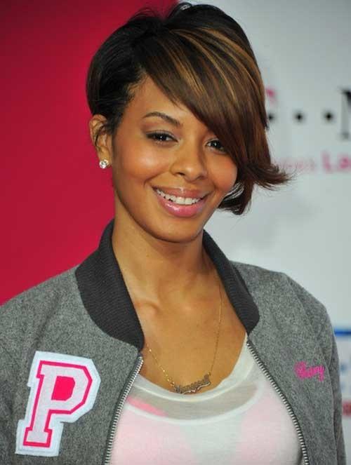 short asymmetrical haircut for black women 2022