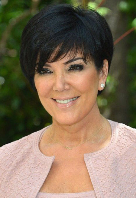 short haircut with bangs for mature women 2022