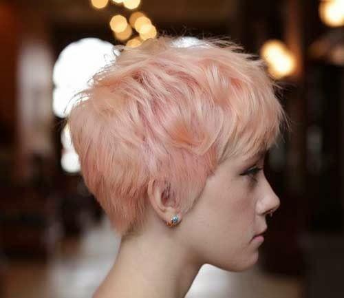 short layered pastel pixie 2016