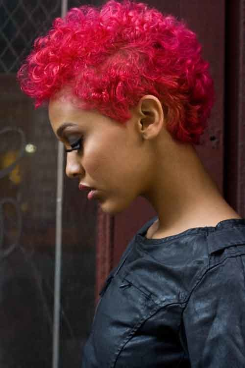 short red hairstyle for black women 2022