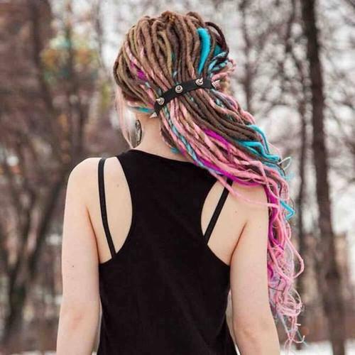colorful dreadlocks hairstyle 2022