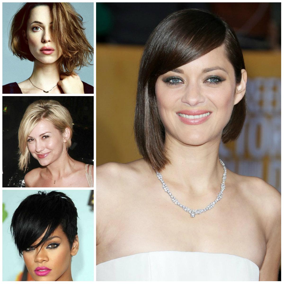 short asymmetrical haircuts celebrities 2016