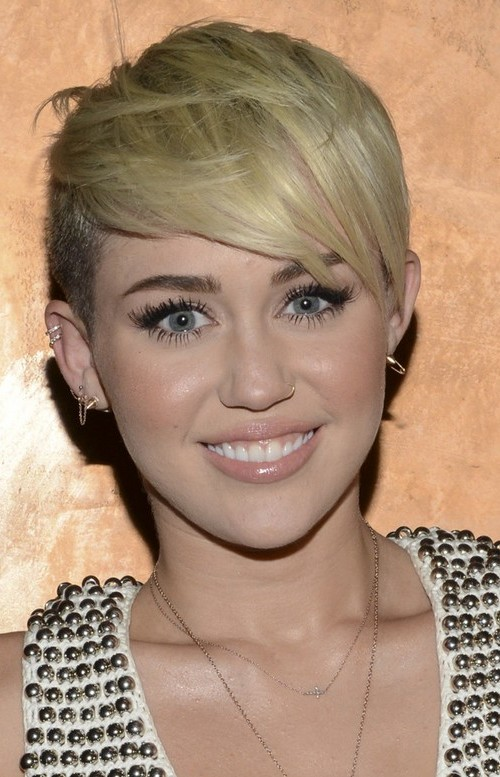 pixie haircut with side swept bangs 2016