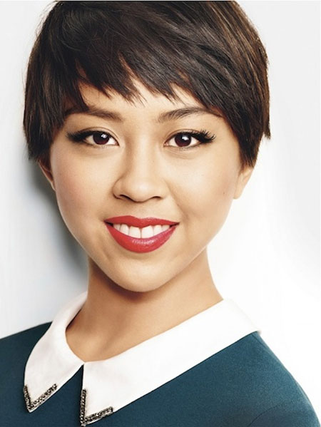 pixie haircut with straight bangs 2016