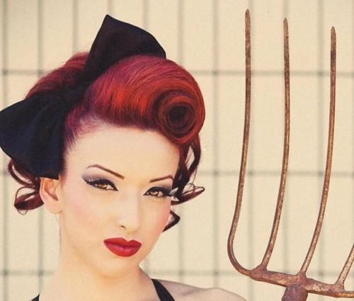 dark red hairstyle