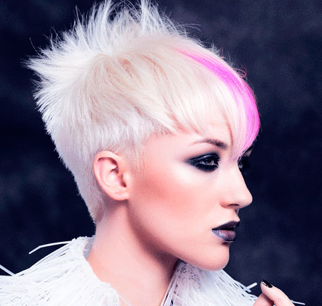 funky spiky hairstyle for women 2016