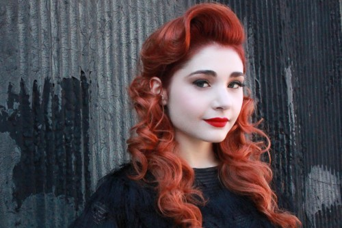 ginger retro waves hairstyle