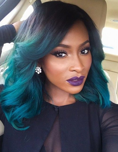 Green hair for Afro American women 2016
