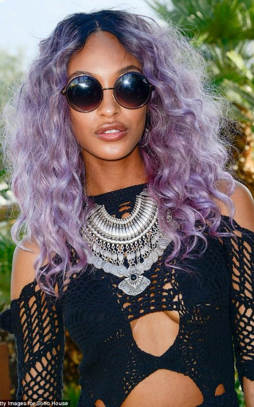 Pink and Purple hair for black women 2016