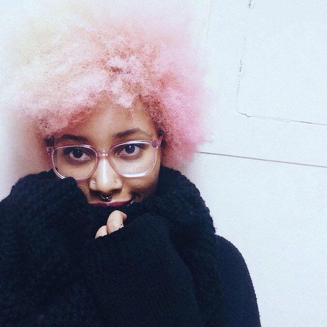 Pink hair for black women
