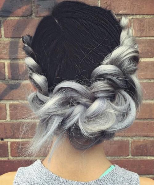 black and white Haar für das Jahr 2016