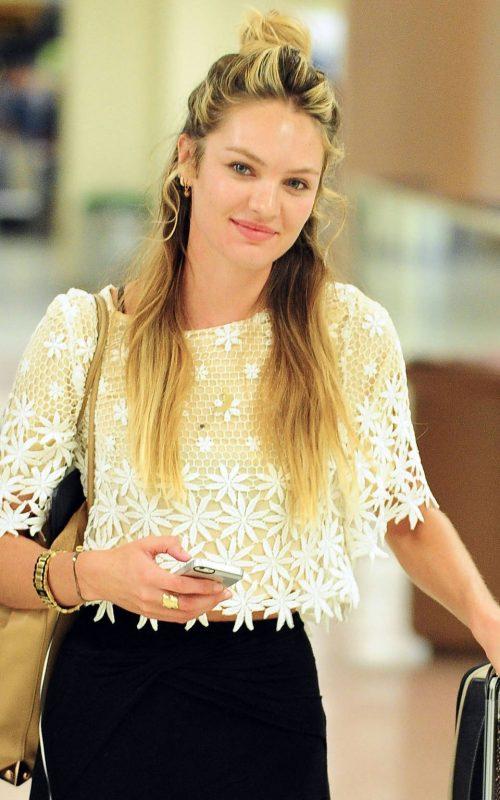 Candice Swanepoel Half Updo