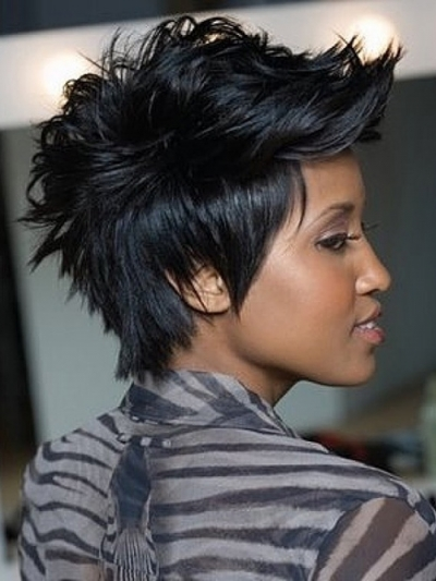 Curly Faux Hawk for Afro American Women